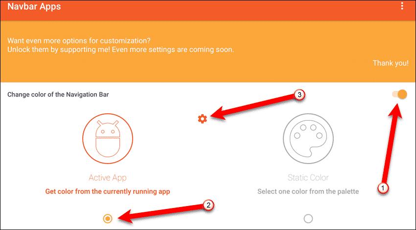 Personalizar la barra de navegación en Android
