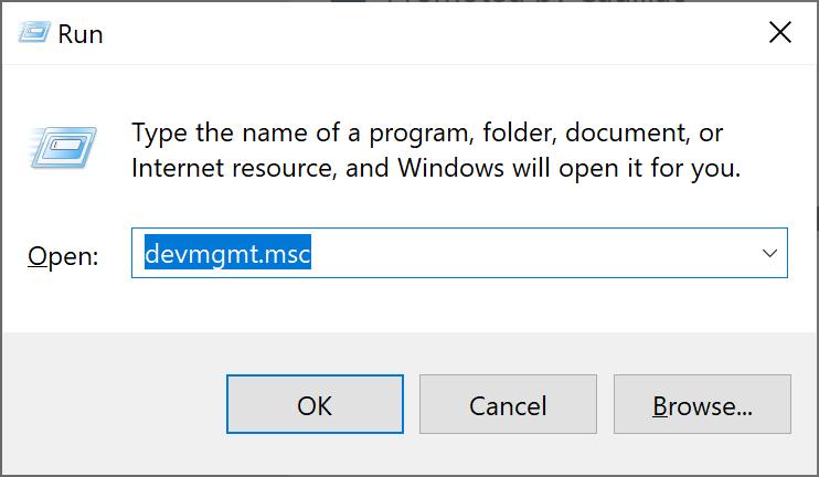 Ejecución abierta en Windows 10