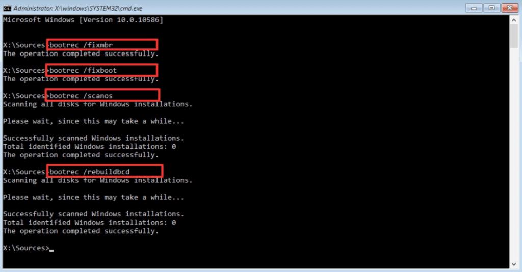 Cómo reparar Windows 7 usando el símbolo del sistema