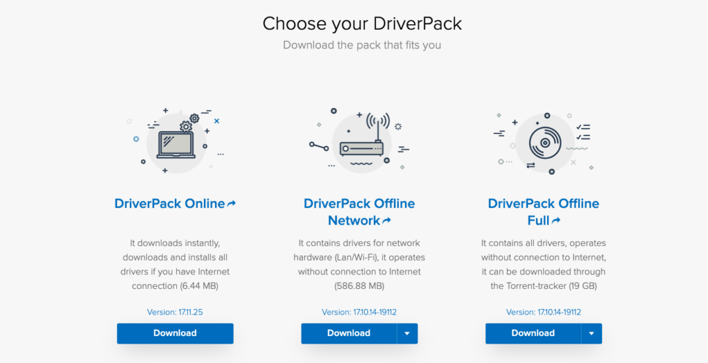 driver pack 2019