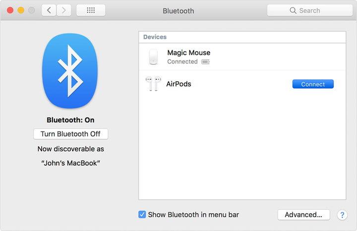 Conecte Apple AirPods a Mac-1