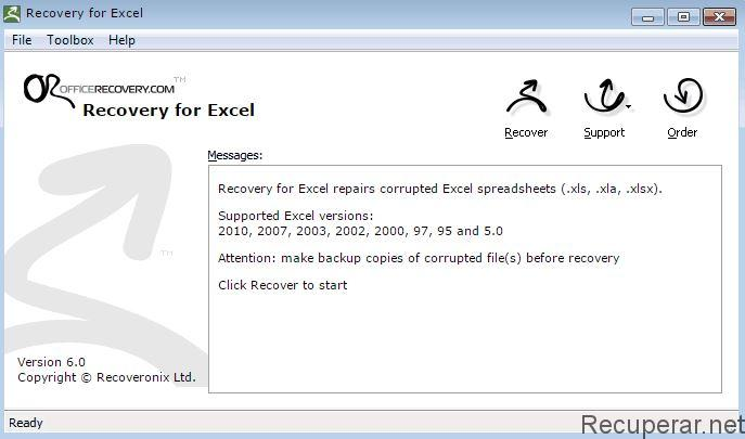 programa excel recovery