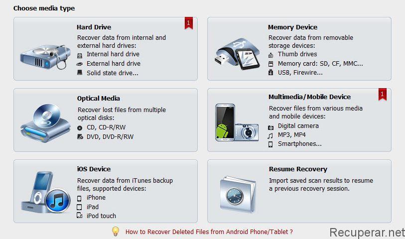 elegir video en recuperación de archivos