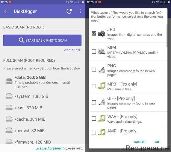 descargar disk digger para android