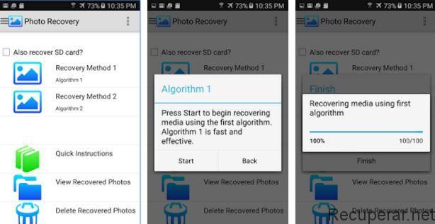 proceso escaneo photo recovery