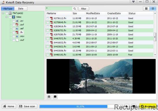 restaurar video borrado