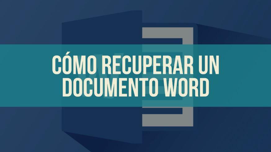 recuperar documento word