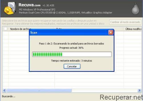 Restauración de datos con Recuva