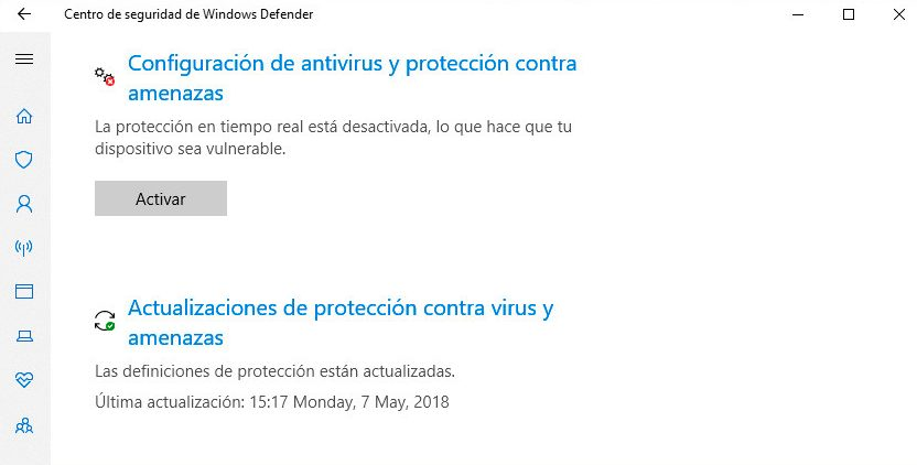 deshabilitar windows defender