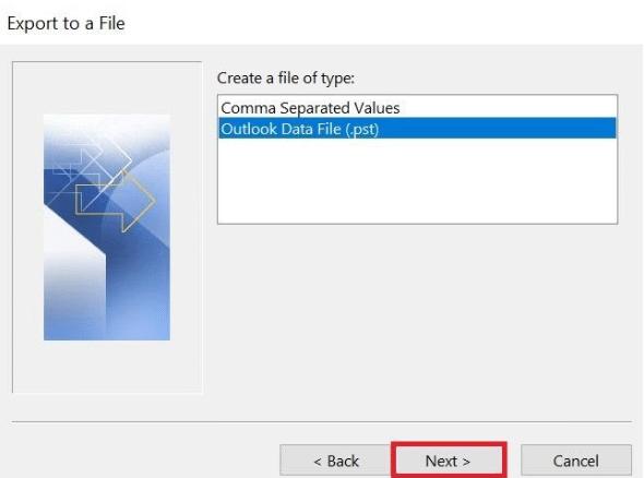 cómo puedo pasar un archivo ost a pst
